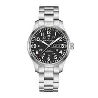 汉米尔顿卡其野战系列双历显示数字刻度夜光显示瑞士机械男士手表 HC-H70535131