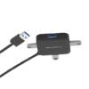 LENTION 蓝盛 USB 扩展坞 四合一 黑色