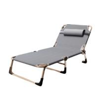 耐朴 简易午休折叠床 银灰色 加固圆管款