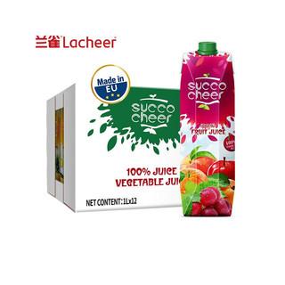 Lacheer 兰雀 果蔬橙苹果葡萄杏桃 1L*12盒