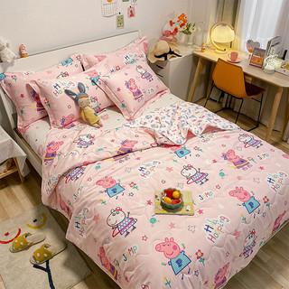 Dohia 多喜爱 小猪佩奇运动会 卡通全棉夏被 152*218cm