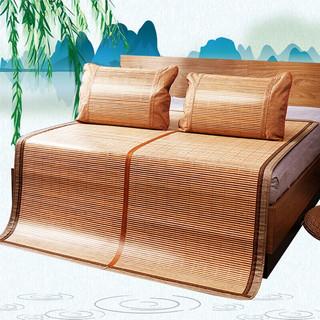 京东PLUS会员 : YALU 雅鹿 碳化水磨竹席折叠式双人凉席180*195cm