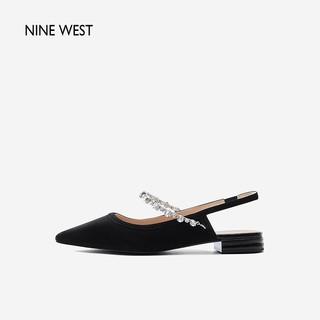 NINE WEST 玖熙 Nine West/玖熙2021春夏新款凉鞋单鞋舒适闪钻包头尖头低跟时装鞋
