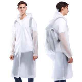 chidong 驰动 成人背包款雨衣 旅行户外登山徒步非一次性雨衣男女士长款带帽 白XL码