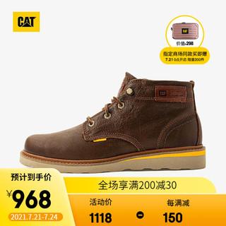 CAT 卡特彼勒 卡特 复古工靴男鞋 时尚牛皮抗菌户外休闲工装皮靴鞋子男