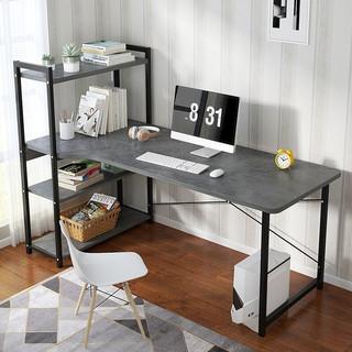 米昊 电脑桌钢木书桌双层加宽