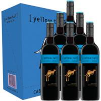 Yellow Tail 黄尾袋鼠 赤霞珠梅洛葡萄酒 750ml*6瓶