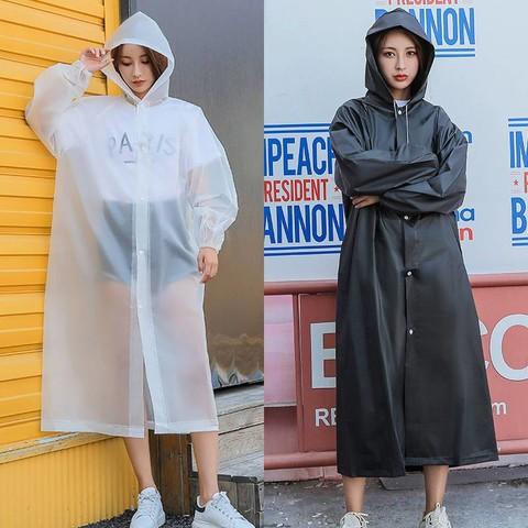 米囹 时尚雨衣外套男女加厚成人便携防水户外旅游连体通用非一次性雨披