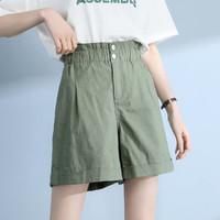 Puella 高腰弹力时尚女式休闲短裤拉夏贝尔旗下2021夏季港味复古短裤