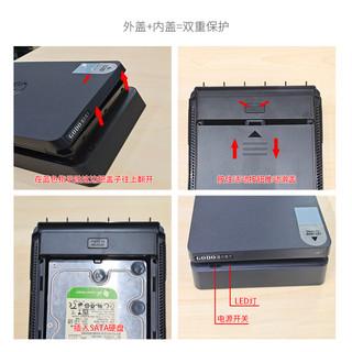 GODO 3.5/2.5英寸USB3.0移动硬盘盒SATA笔记本台式机固态硬盘外接盒子