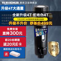 KOHLER 科勒 40微米免拆反冲洗压力表监控 家用大通量管道自来水滤水机 27764T-6分接口反冲洗前置过滤器