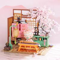 Rolife 若来 Nanci囡茜生日礼物女樱花庭diy小屋立体拼图手工拼装玩具摆件礼物
