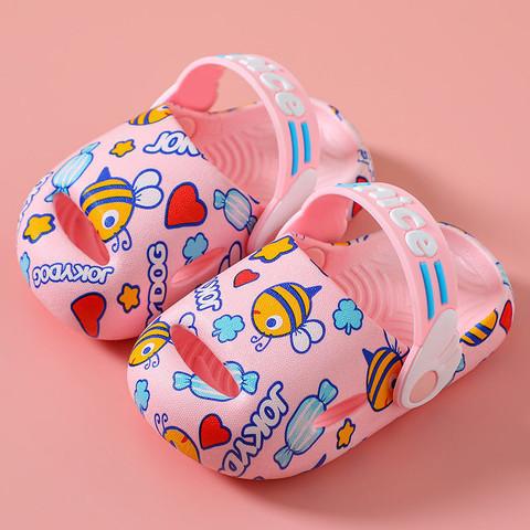 京东PLUS会员:夏季儿童包头洞洞鞋卡通小童婴幼儿1-3岁2防滑软底透气宝宝凉拖鞋