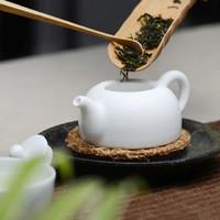 长物居 无光白脂白陶瓷茶壶小号 5.3x4x7.2cm 无光白釉 景德镇手工瓷器茶具