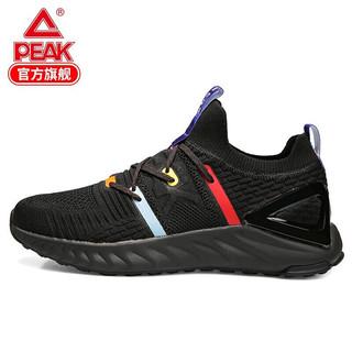 PEAK 匹克 态极1.0plus运动鞋科技智能休闲跑步鞋男女情侣跑鞋 黑色(男款) 40