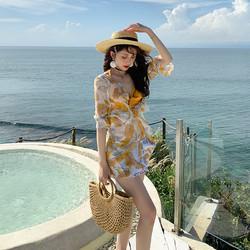亦美珊 泳衣女夏2021新款分体三件套泳装性感比基尼海边仙气游泳衣