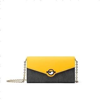 Fion菲安妮女包2020新款时尚链条斜挎单肩包 可爱小黄人质感信封包 女士斜挎包
