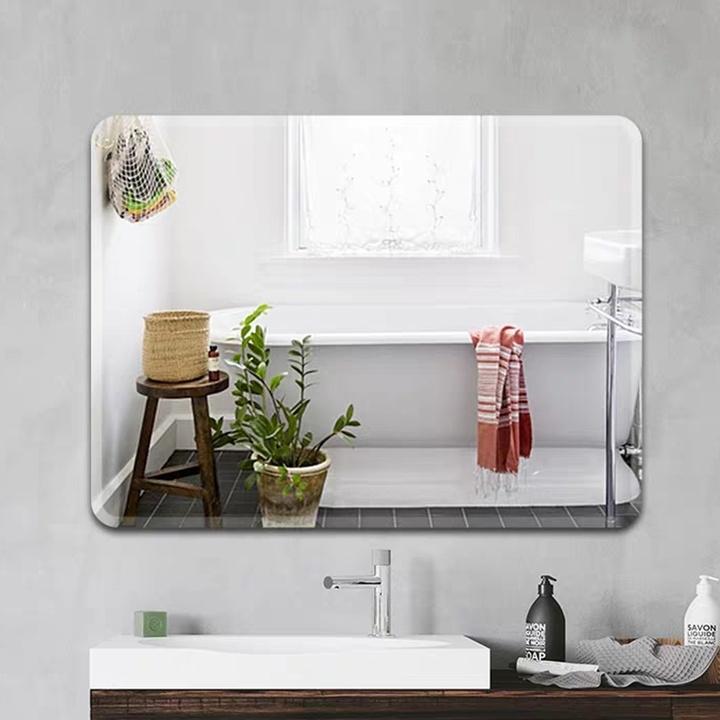 古润 免打孔浴室镜子 直角30*42cm(粘胶+免钉胶)