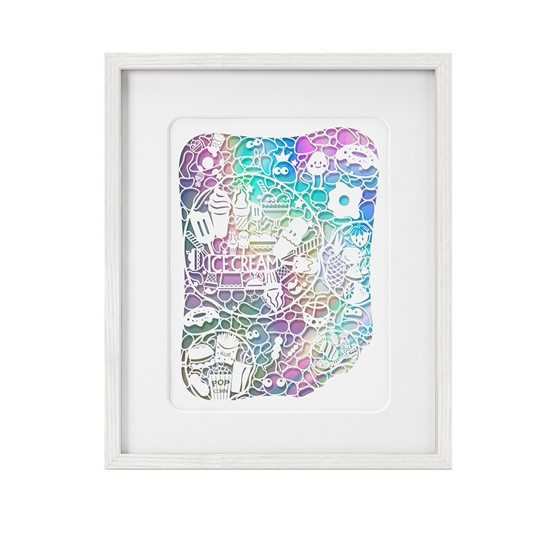dprints迪品《泡泡的味道》292×362mm 装饰画简约diy卧室餐厅儿童房艺术版画