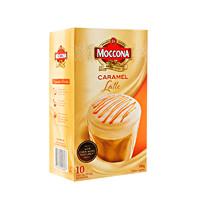 PLUS会员:Moccona 摩可纳 焦糖拿铁速溶咖啡粉 14g*10条