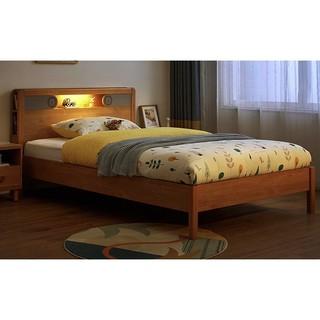 林氏木业 儿童床实木框男孩女孩学生单人床简约现代儿童房家具KN1A
