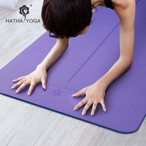 HATHA YOGA 哈他 瑜伽垫tpe男女士初学者防滑加厚加宽加长三件套健身运动垫子