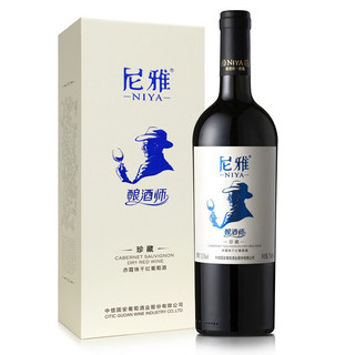 NIYA 尼雅 红酒 珍藏级 酿酒师系列 赤霞珠干红葡萄酒 750ml 单支礼盒装