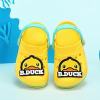 B.Duck 小黄鸭2021四季新款男女童花园鞋透气小童洞洞鞋儿童拖鞋休闲