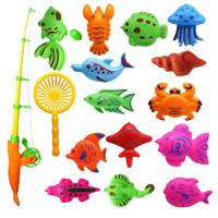 纽彼儿童磁性钓鱼玩具 15件套