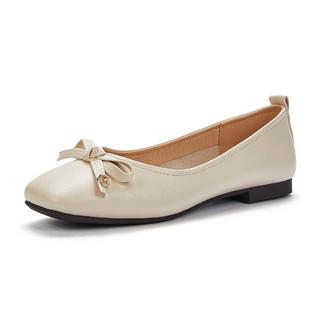 hotwind 热风 2021年秋季新款女士时尚甜美女单鞋平底浅口女鞋