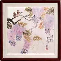 尚得堂 墨翁《花鸟清韵》50×50cm 手绘国画 名家真迹客厅简约中式装饰画