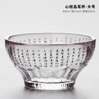 毓树 玻璃杯子耐热透明玻璃品茗杯茶杯水杯功夫茶具主人杯小茶碗家用茶具配件