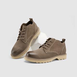HLA 海澜之家 2021秋季男士英伦复古休闲靴子马丁靴