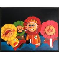 ARTMORN 墨斗鱼艺术 陈建周版画 西游记系列《花仙四人》60×45cm 艺术家亲笔签名 布面微喷 限量200版