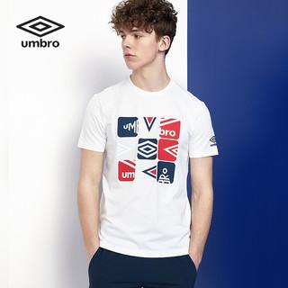 Umbro 茵宝 UMBRO茵宝 夏季新款短T男子时尚图案简约百搭运动短袖T恤