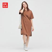UNIQLO 优衣库 437276 女装光泽感连衣裙