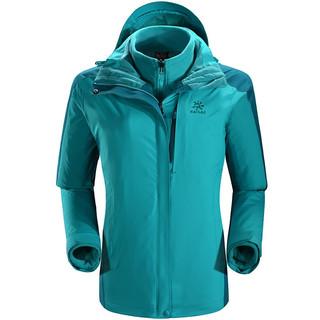 KAILAS 凯乐石 运动户外 秋冬女款徒步旅行三合一冲锋衣防风保暖外套