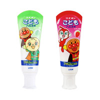 LION 狮王 日本儿童牙膏面包超人岁宝宝可吞咽40g婴儿