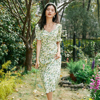 eifini 伊芙丽 1C4991841 女士方领法式连衣裙