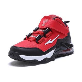 ERKE 鸿星尔克 男童鞋夏中大童鞋男童篮球鞋后掌气垫减震高帮男童运动鞋