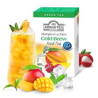 AHMAD 亚曼 冷水速泡进口茶叶 芒果荔枝绿茶 20包