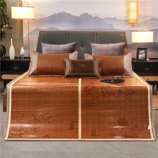 Bejirog 北极绒 碳化竹席折叠式双人凉席180*195cm