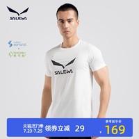 SALEWA 沙乐华 salewa沙乐华棉短袖男士2021夏季新款干爽透气运动休闲圆领T恤