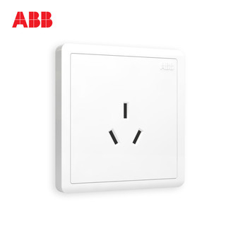 ABB 开关插座远致明净白墙壁86型开关面板16A空调三孔AO206
