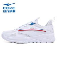 ERKE 鸿星尔克 男鞋时尚跑鞋轻便透气运动慢跑鞋 51121120172 正白 44