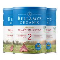 BELLAMY'S 贝拉米 婴儿奶粉 2段 900g*3罐