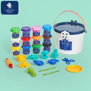EVOCELER 伊维诗乐 英国EVOCELER彩泥橡皮泥儿童玩具 桶装12色