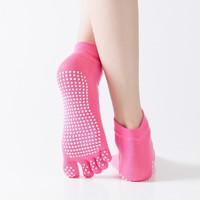 麦力斯 五指袜分趾袜 单色全指红色+2双