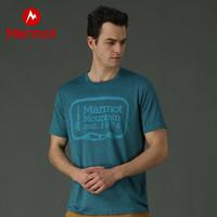 Marmot 土拨鼠 户外运动男士透气舒适印花短袖T恤
