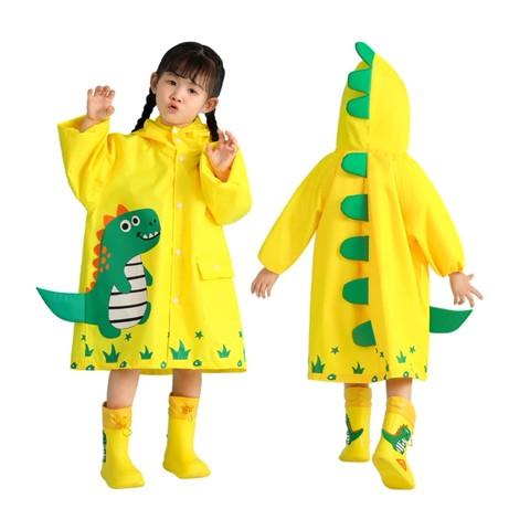 儿童防水恐龙连体雨衣雨裤